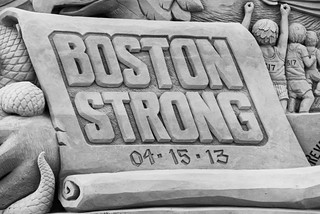 Central Sculpture - Boston Strong Scroll Detail