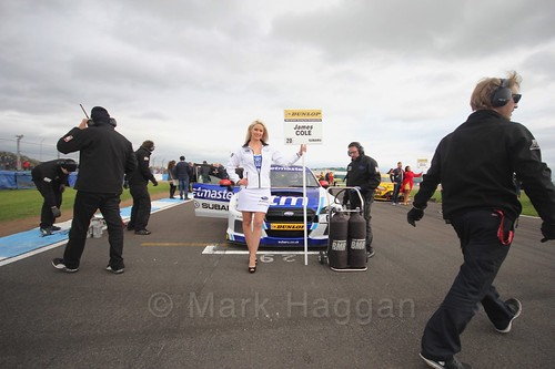James Cole on the grid before race two at the British Touring Car Championship 2017 at Donington Park