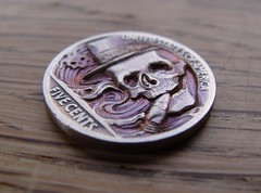 """Hobo nickel coin carving: 'The joy of a good cigar' • <a style=""""font-size:0.8em;"""" href=""""http://www.flickr.com/photos/72528309@N05/12349346343/"""" target=""""_blank"""">View on Flickr</a>"""
