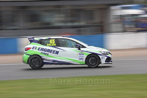 Dan Zelos in Renault Clio Cup Race Three at the British Touring Car Championship 2017 at Donington Park