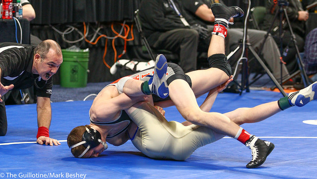 120A - 3rd Place Match - Mark Buringa (St Charles) 38-3 won by decision over Jace Geving (Deer River) 33-6 (Dec 11-9)