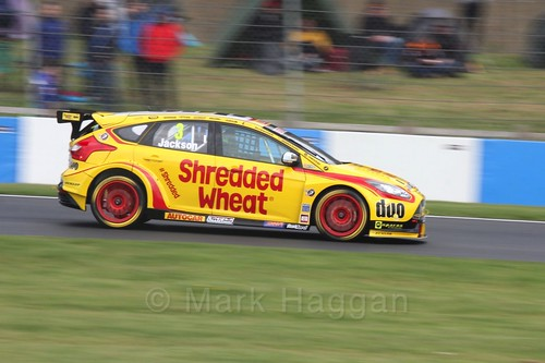 Mat Jackson in race one at the British Touring Car Championship 2017 at Donington Park