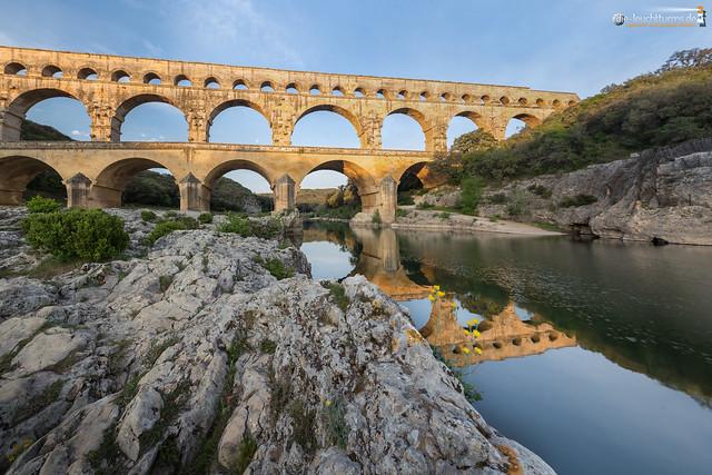 Pont du Gard in morning light