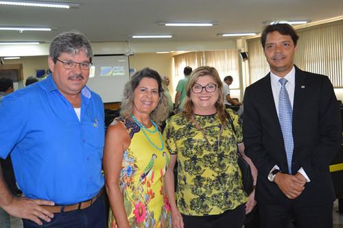 Eduardo Pinho, Carmelita Mendes, Fátima Salles e Eduardo Figueredo