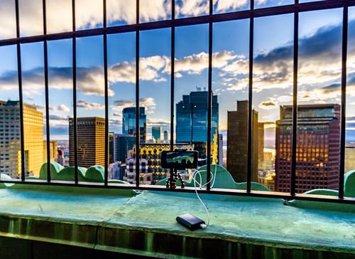sky iphone6s iphone skyscrapers gorillapod lapseitpro griptightpro massachusetts joby customhousetower skyline downtown boston clouds sunset timelapse view newengland ankerbattery