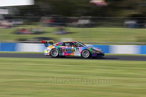 Rupert Martin in the Porsche Carrera Cup Race One during the BTCC Weekend at Donington Park 2017: Saturday, 15th April