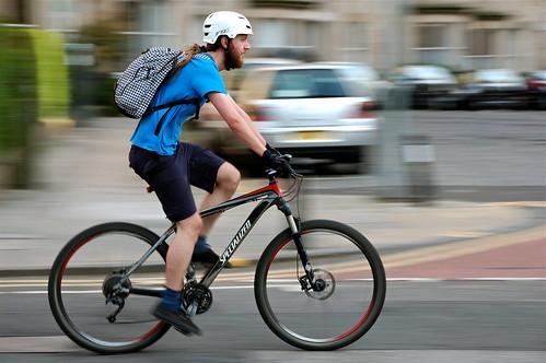 street urban man motion beard cycling movement nikon... (Photo: jeremyhughes on Flickr)