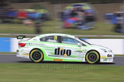 Rob Austin in race one at the British Touring Car Championship 2017 at Donington Park