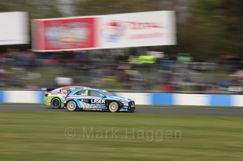 Aiden Moffat in race one at the British Touring Car Championship 2017 at Donington Park
