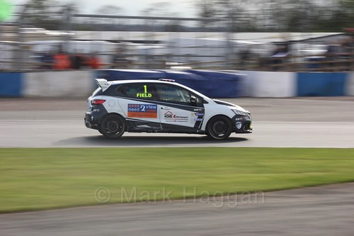 Graham Field in Renault Clio Cup Race Three at the British Touring Car Championship 2017 at Donington Park