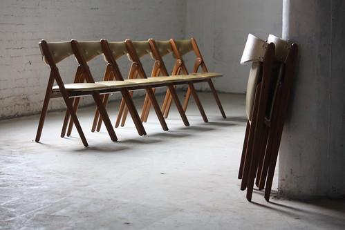 coronet folding chairs first high chair practical wonderfold mid century modern u s a 1950