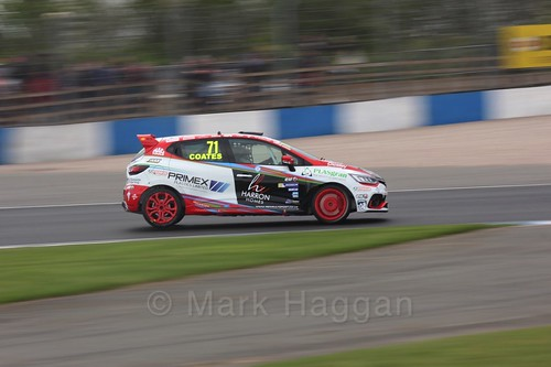 Max Coates in Renault Clio Cup Race Three at the British Touring Car Championship 2017 at Donington Park