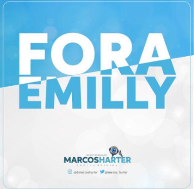 'BBB 17': Torcida de Marcos faz campanha contra permanência de Emilly