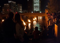 Romantic moments at WaterFire