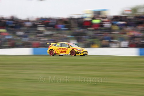 Luke Davenport in race one at the British Touring Car Championship 2017 at Donington Park