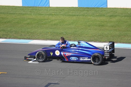Lucas Alecco Roy in British F4 Race One during the BTCC Weekend at Donington Park 2017: Saturday, 15th April