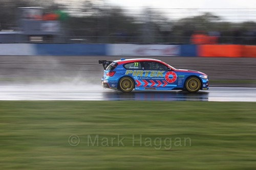 Andrew Jordan in race three at the British Touring Car Championship 2017 at Donington Park
