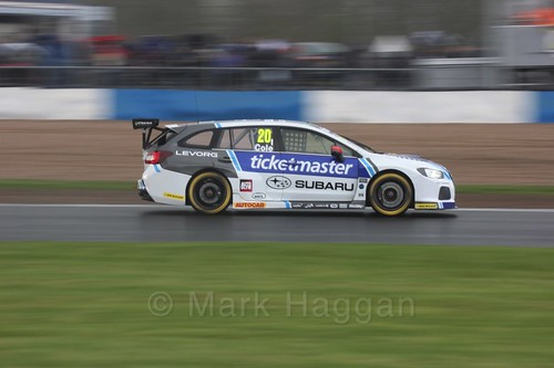 James Cole in race three at the British Touring Car Championship 2017 at Donington Park