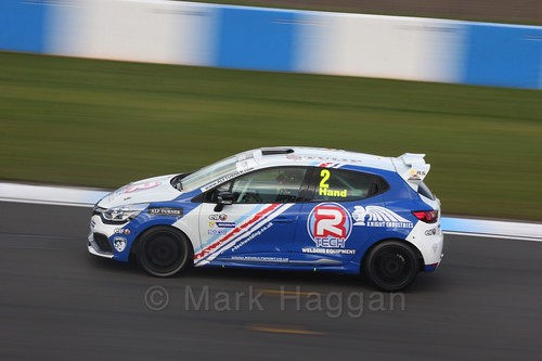 Ash Hand in the Clio Cup qualifying during the BTCC Weekend at Donington Park 2017: Saturday, 15th April