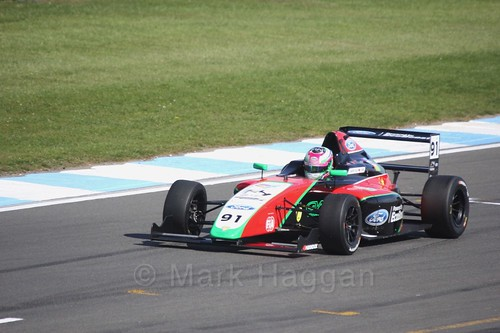 Liu Zhuangling in British F4 Race One during the BTCC Weekend at Donington Park 2017