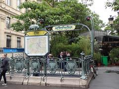 The Paris Cité metro station on Ile de la Cité - one of the few original Art Nouveau entrances