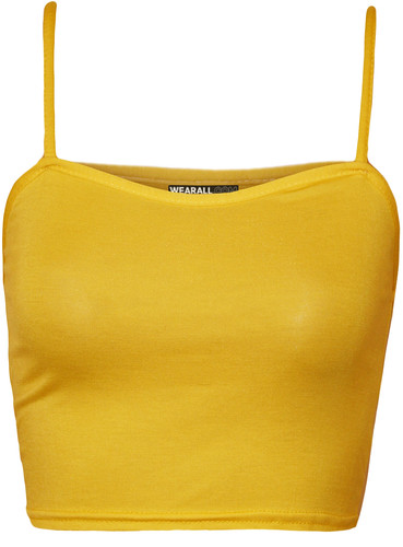 ladies summer fashion yellow top womens crop vest strappy... (Photo: wearalldotcom on Flickr)