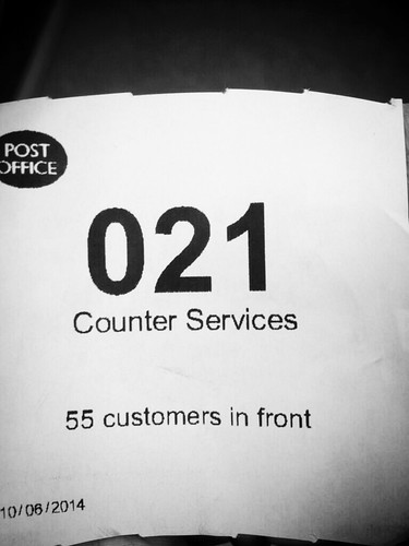 Today is all about...queuing for over 20 minutes to then be shouted at by the cashier