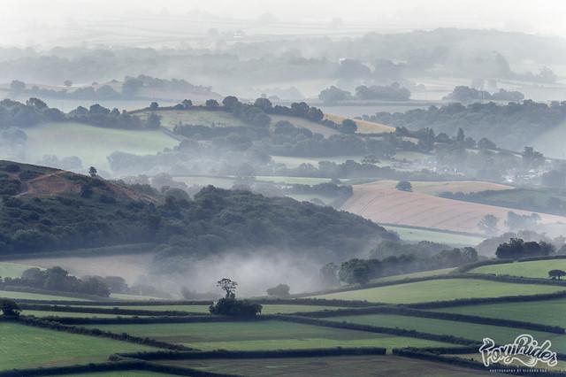 Devon Retreating Morning Mists