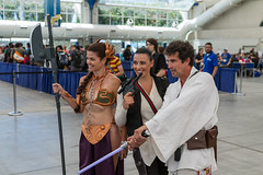 "Jedi gender mashup and slave Leia SDCC 2014 • <a style=""font-size:0.8em;"" href=""http://www.flickr.com/photos/33121778@N02/14595617497/"" target=""_blank"">View on Flickr</a>"