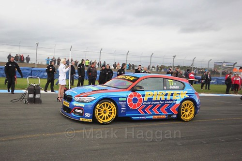 Andrew Jordan on the grid before race two at the British Touring Car Championship 2017 at Donington Park