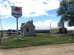 A rare Mobil sign in Platte