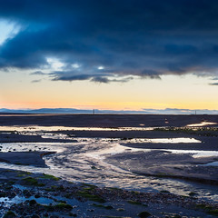 "Low tide at dusk, Findhorn • <a style=""font-size:0.8em;"" href=""http://www.flickr.com/photos/26440756@N06/14274706320/"" target=""_blank"">View on Flickr</a>"