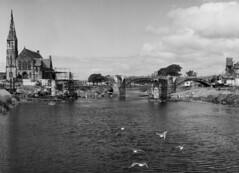 """The Water Bridge and the Rivergate Bridge Together (1972-73?) • <a style=""""font-size:0.8em;"""" href=""""http://www.flickr.com/photos/36664261@N05/14055546707/"""" target=""""_blank"""">View on Flickr</a>"""