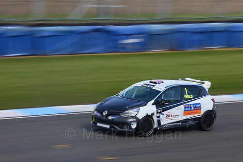 Graham Field in Clio Cup qualifying during the BTCC Weekend at Donington Park 2017: Saturday, 15th April