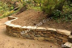 WM Mark Jurus 17, retaining wall, flat cap stones, dry laid stone construction, copyright 2014