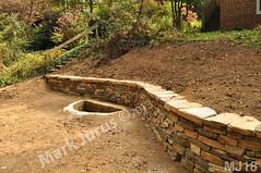 WM Mark Jurus 18, retaining wall, flat cap stones, dry laid stone construction, copyright 2014