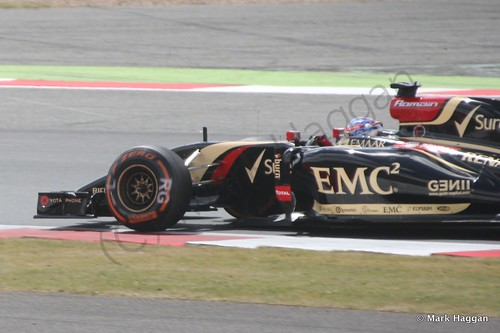 Romain Grosjean during The 2014 British Grand Prix