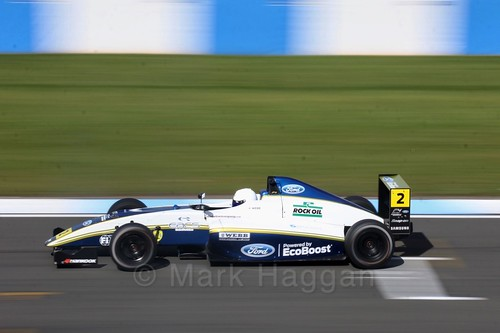 Harry Webb in British F4 Race One during the BTCC Weekend at Donington Park 2017