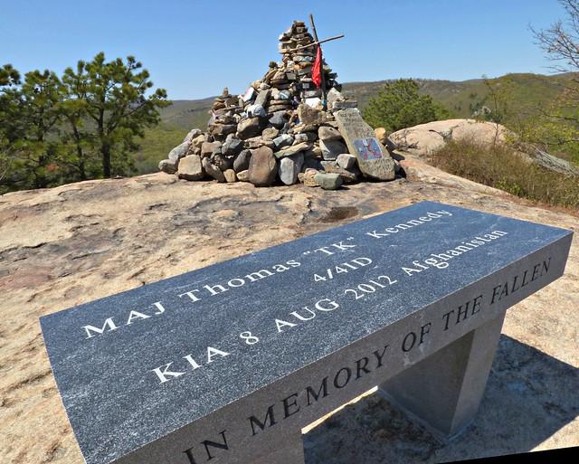 Memorial atop Popolopen Torne