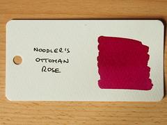 Noodler's Ottoman Rose - Word Card