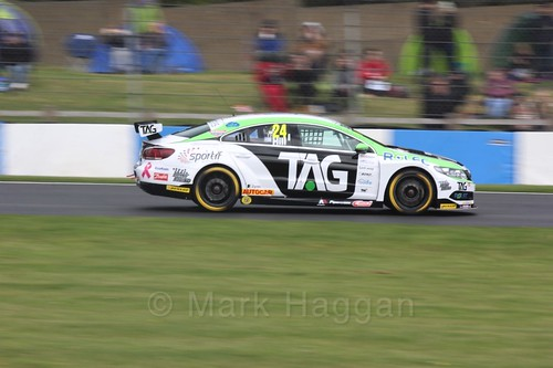 Jake Hill during Race One at the British Touring Car Championship 2017 at Donington Park