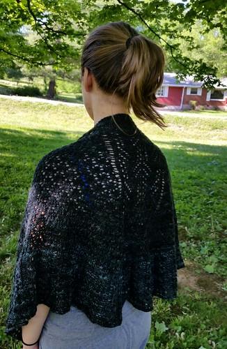 Finished Kimani shawl