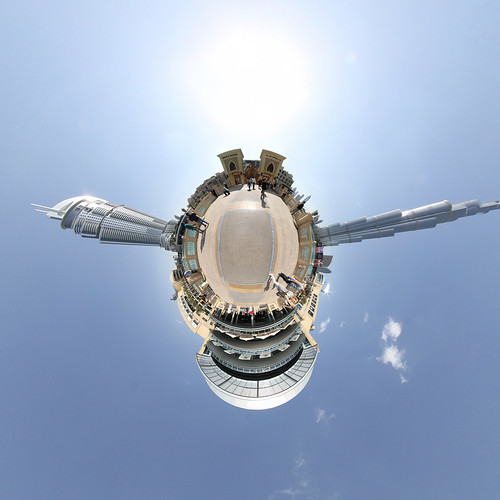 Dubai Souk Al Bahar Bridge - little planet