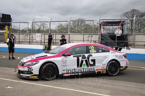 Mike Epps during race two at the British Touring Car Championship 2017 at Donington Park