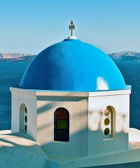 Blue Dome @ Santorini Oia from Flickr via Wylio