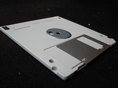 An old (now out-dated) floppy disk