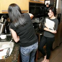 Outdoors Kitchen Pulls And Knobs Grandma Neeta Making Xmas Dinner, Megan Her Culinary ...