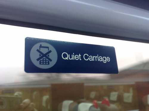 The first class Quiet Carriages