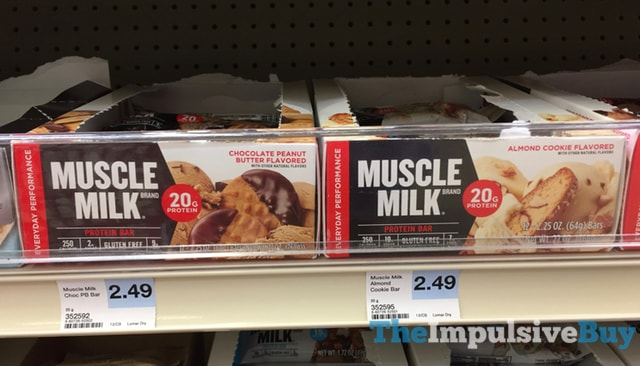 Muscle Milk Chocolate Peanut Butter and Almond Cookie Protein Bars