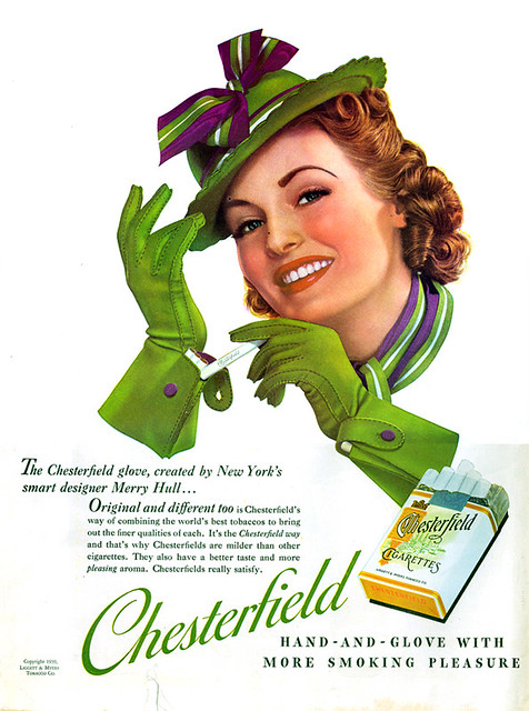 Old Chesterfield Cigarettes Ad
